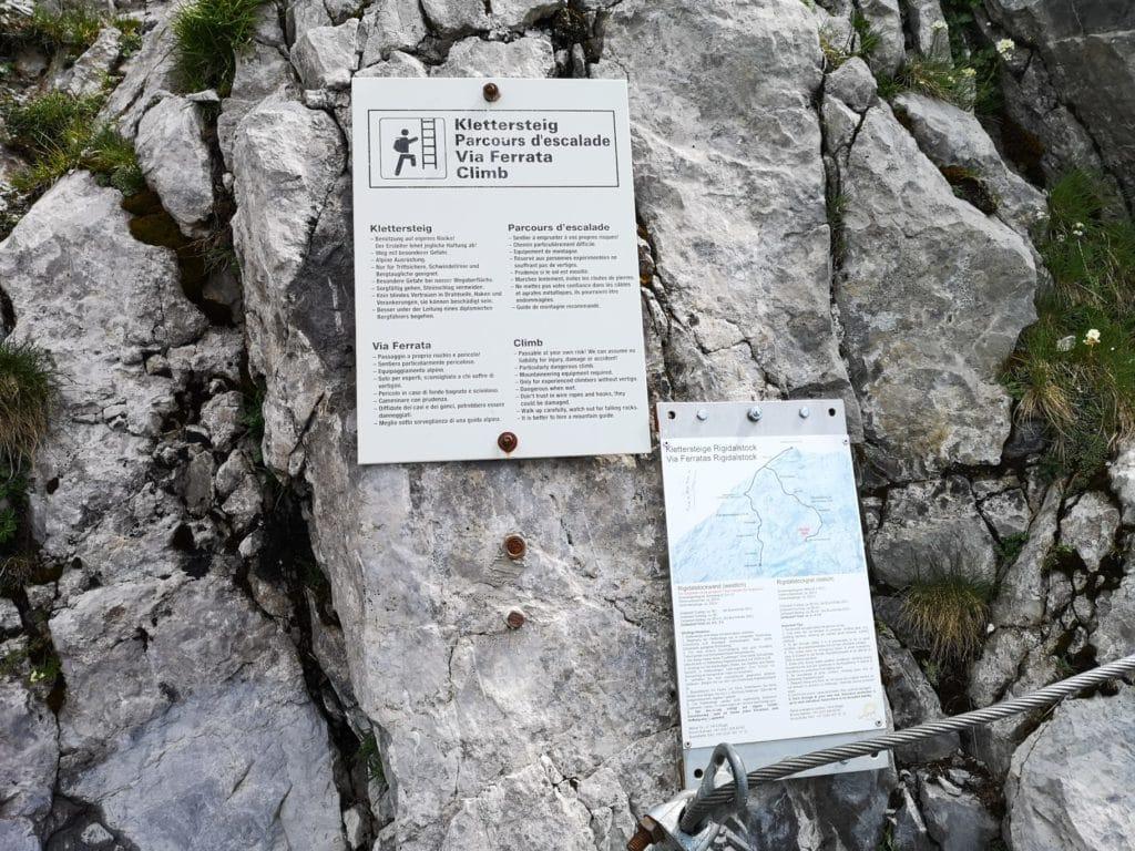 Hinweise zum Klettersteig Rigidalstockgrat in Engelberg