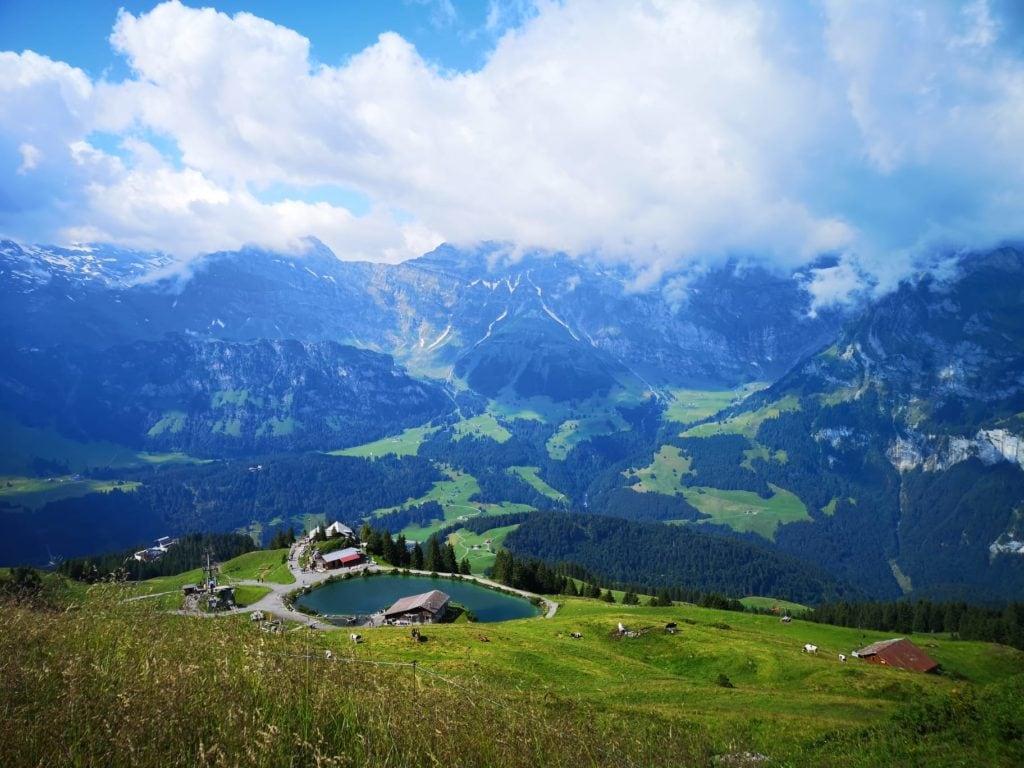Ausblick vom Klettersteig Rigidalstockgrat in Engelberg